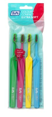 Colour Compact Extra Soft Fırça (4'lü ve renkli başlı)